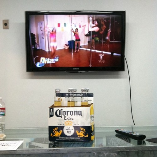 Telemundo and Coronas. Happy Cinco De Mayo. Shop is open! #cincodemayo #halloway (Taken with Instagram at Halloway & Clout Magazine HQ)
