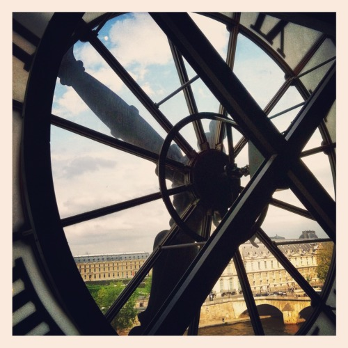 Clock tower view from the Museum D'Orsay #Paris -  May 05, 2012 at 06:39AM. /via http://flic.kr/p/bTsJGD