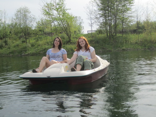 Paddle boating on the lake on my professors property with my friend Courtney! Seriously the last two days have been some of the most enjoyable days of the year. The weather has been perfect.