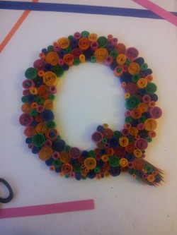My saturday afternoon has consisted of this…quilling with paper for my illustrated a-z
