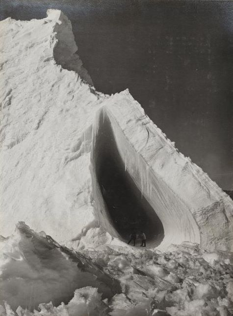 An iceberg and grotto. by Herbert George. Ponting on 5 January 1911, during the British Antarctic ('Terra Nova') Expedition.