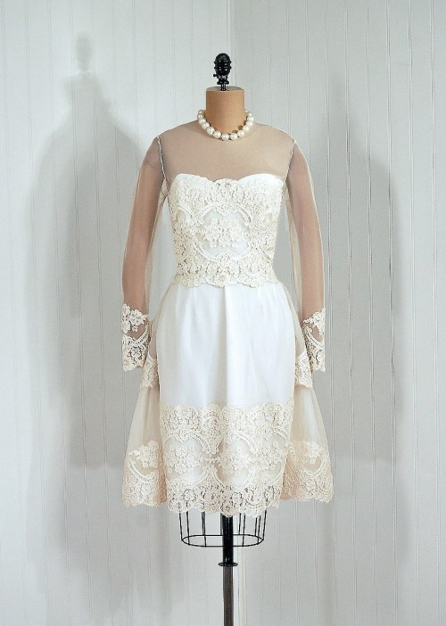 Wedding Dress William Travilla, 1960s Timeless Vixen Vintage