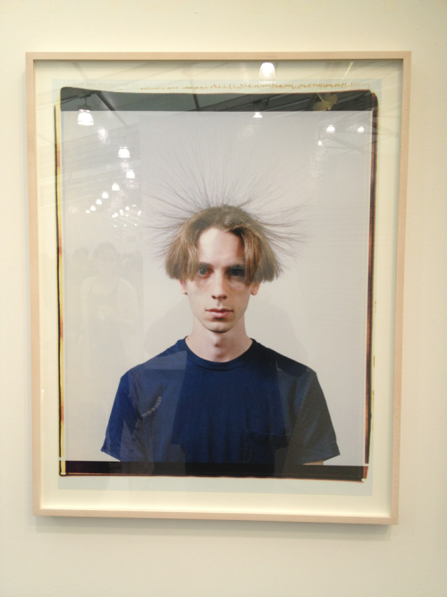 Crazy hair at #frieze.