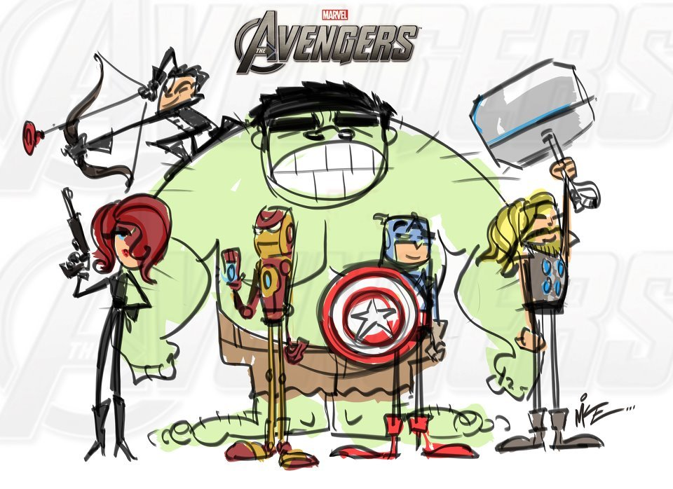 herochan:  We have a Hulk. Avengers illustration by Mike Kunkel