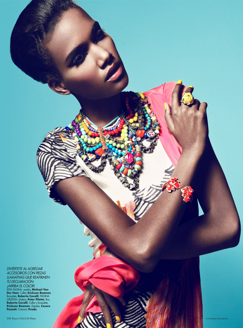 lovelyunicorns:  Arlenis Sosa by Kevin Sinclair for Harper's Bazaar, Mexico May 2012