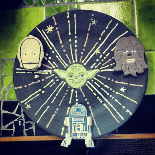 #crafts #craft #diy #instagram #nerdy #nerd #geek #geeky #art #star #starwars #chewbacca #yoda #c3po #r2d2 (Taken with instagram)