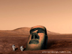 Martian tiki head. (2003)