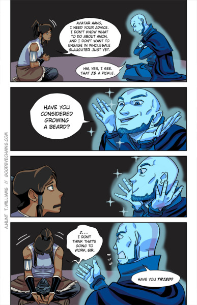 projectkr:  Korra and Aang by ~tracywilliams xD
