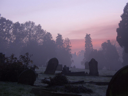 Cemetery Sunset (by Strt's Photos)