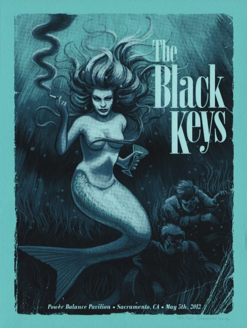 The Black Keys Sacramento, CA gig poster. 3 colors on 18x24 @FrenchPaperCo Poptone Blue Raspberry. Available Monday May 7th, 12 noon here.