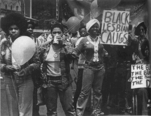 amazonfeminist:  The Black Lesbian Caucus 1972 NY Gay Pride  (Source: Flickr / mmilleryoung)
