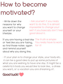 becomemorefit:  whovianprincessgetfit:  Ahhhh yes! More motivation ideas!  I'll do it tomorrow!:)