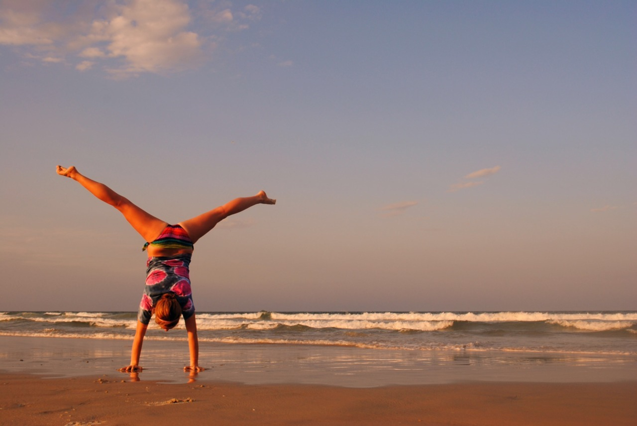Handstands on the beach anyone?