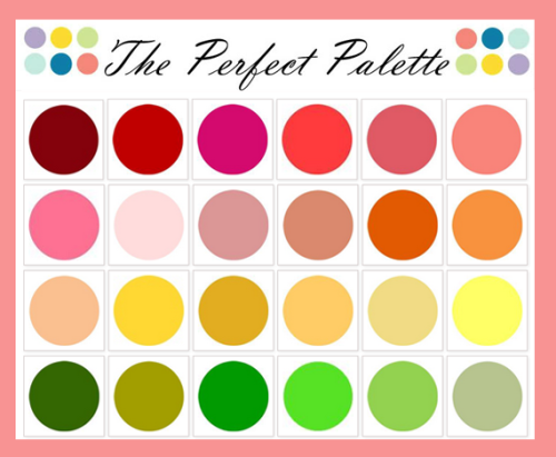 Need help with your book's colors? Well, try The Perfect Palette on for size! The Perfect Palette was founded in 2008 as a wedding blog, but you can use it as an amazing source of inspiration for you next book's theme! (Thanks, ybklove for the link!)