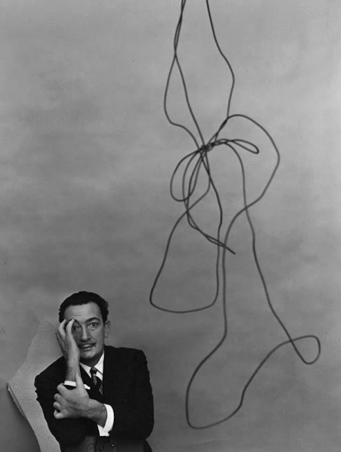 artistandstudio:  Salvador Dali.  Photo by Arnold Newman