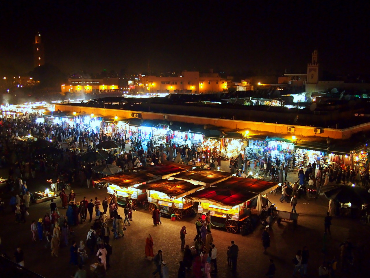 Sensory overload at Marrakesh's Djemaa el-Fna.