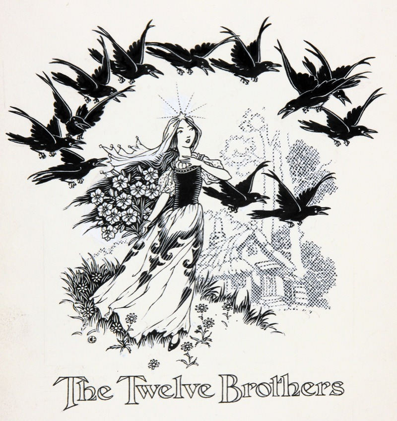Charles James Folkard - The Twelve Brothers - Grimm's Fairy Tales - via