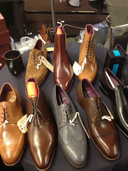 Epaulet's display of shoes at the Showcase