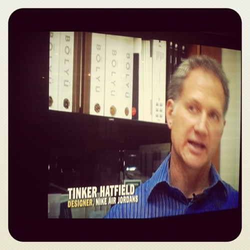 Meet Tinker Hatfield, designer of Air Jordans. Never wore a pair in his life.  (Taken with instagram)