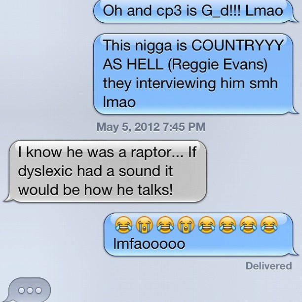 My brother smh lmfao #reggieevans (Taken with instagram)