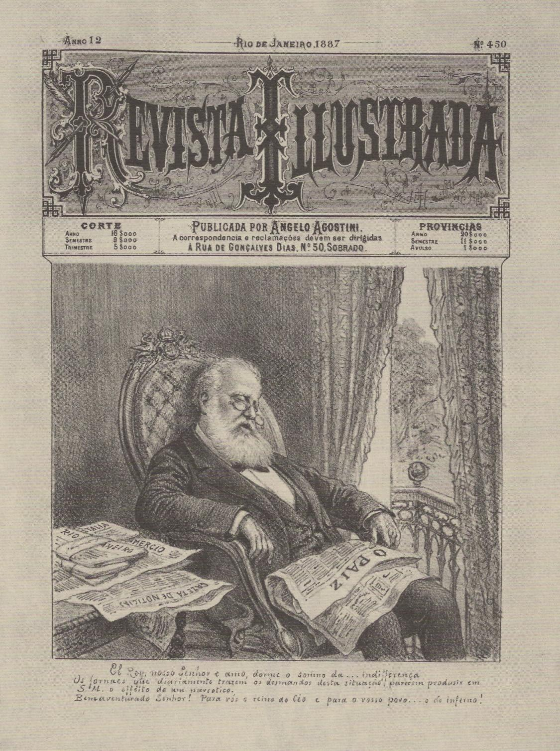 Angelo Agostini (1843-1910) Revista Illustrada nº450 1887