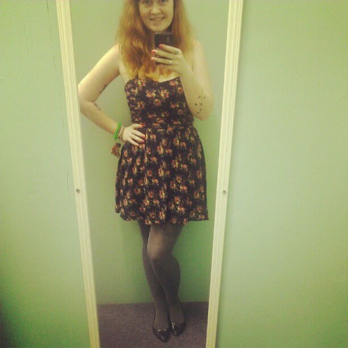 Daily Dolce Vita Derpin, #outfitoftheday I actually have a dress on… (Taken with instagram)