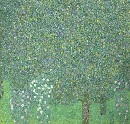 Gustav Klimt Rose Bushes under the Trees 1905
