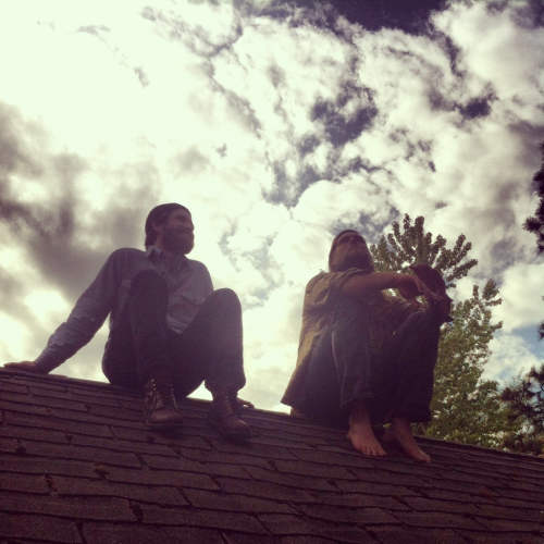 rooftop children.