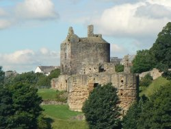 Ravenscraig Castle was planned by King James II of Scotland. Unfortunately he was killed in an accident. Hi wife, Mary of Guelders completed Ravenscraig and lived there until about 1463. James III gave it to William Sinclair in exchange for vast estates in the Caithness Scotland. The Sinclairs completed the castle about 1471.