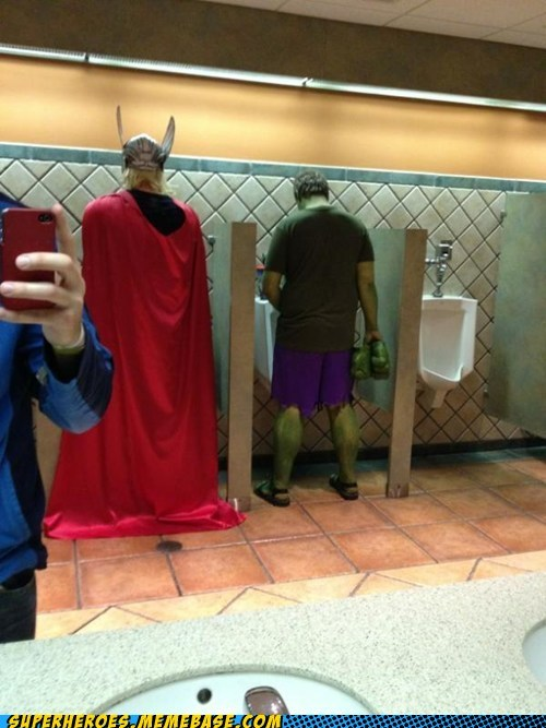 the-amazing-speedo:  Some strong urinals.