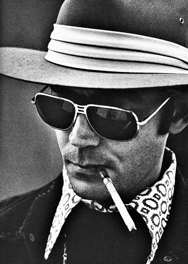 "Hunter S. Thompson photographed by Edmond Shea for ""The Great Shark Hunt"" cover."