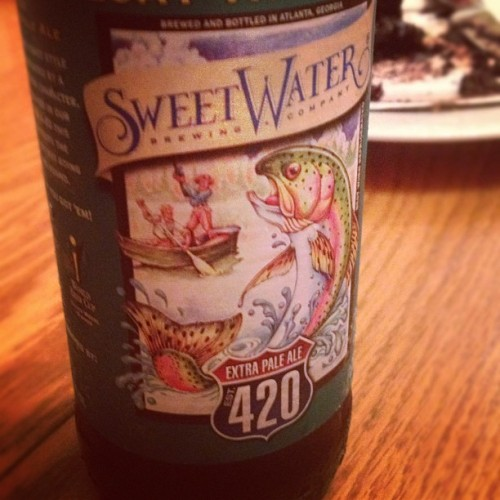 Trying that Georgia beer.  (Taken with instagram)
