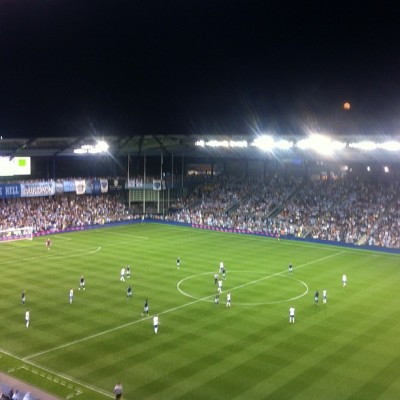 Start of 2nd half for #sportingkc against the #Impact (Taken with instagram)