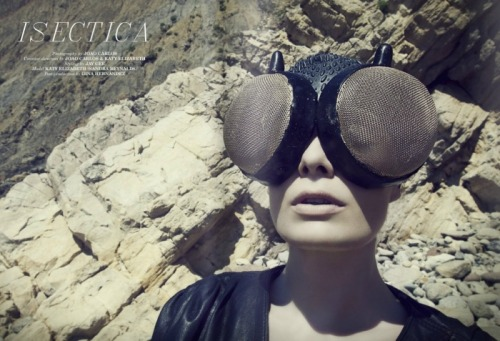 f-l-e-u-r-d-e-l-y-s:  Katy Elizbeth Wears Mercura NYC for Joao Carlos Isectica Paper Cut Magazine October 2011