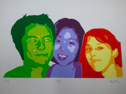 orangehwang:  Friends/ Silk screen/ Oct. 2011 Friends that I met in New York in 2010. Miss the moment when we were all together. #Tibo. MJ. Lorena