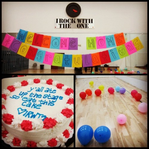 xoxosomebodyyy:  Welcome back surprise for IRWT1 competitive team. 😊🎉🎈 (Taken with instagram)