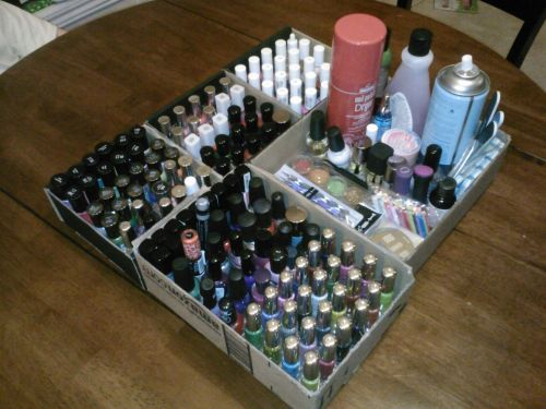 I organized my nail polish! Yay, it looks so much better now.