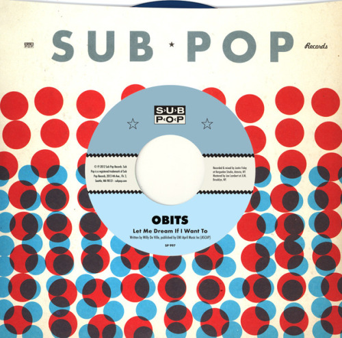 "Is it just me or is the design on these sub pop 7"" sleeves amazing!?!"