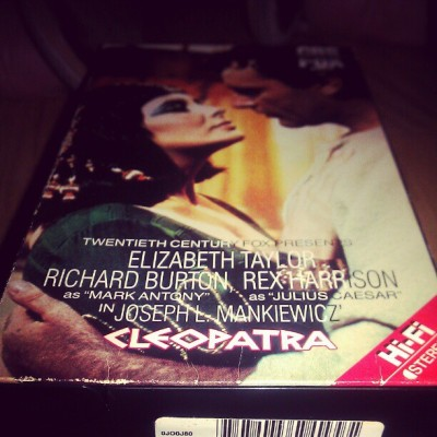 My companions for the evening #cleopatra #vhs #classic #hollywood #cinema  (Taken with instagram)