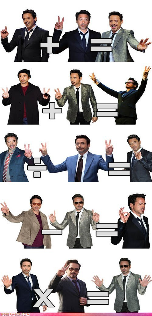 axbycz:  Robert Downey Jr teaches you math