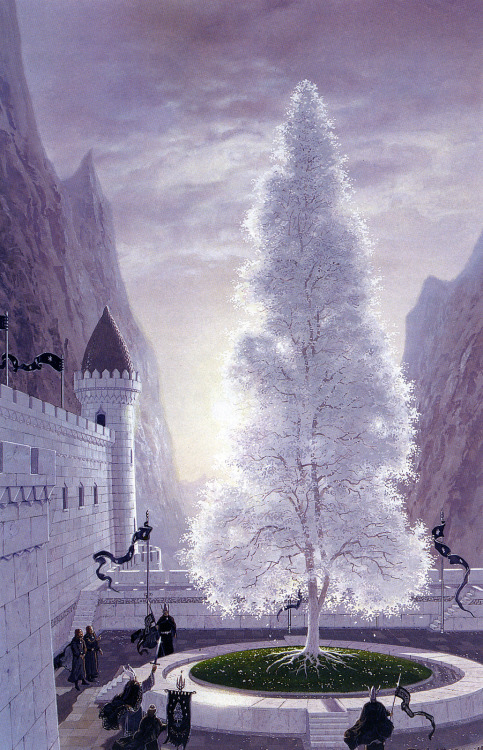 aurigal:  The white tree illustrated by Ted Nasmith. Its pretty ridiculously awesome- just saying. I want his talent… yeah.