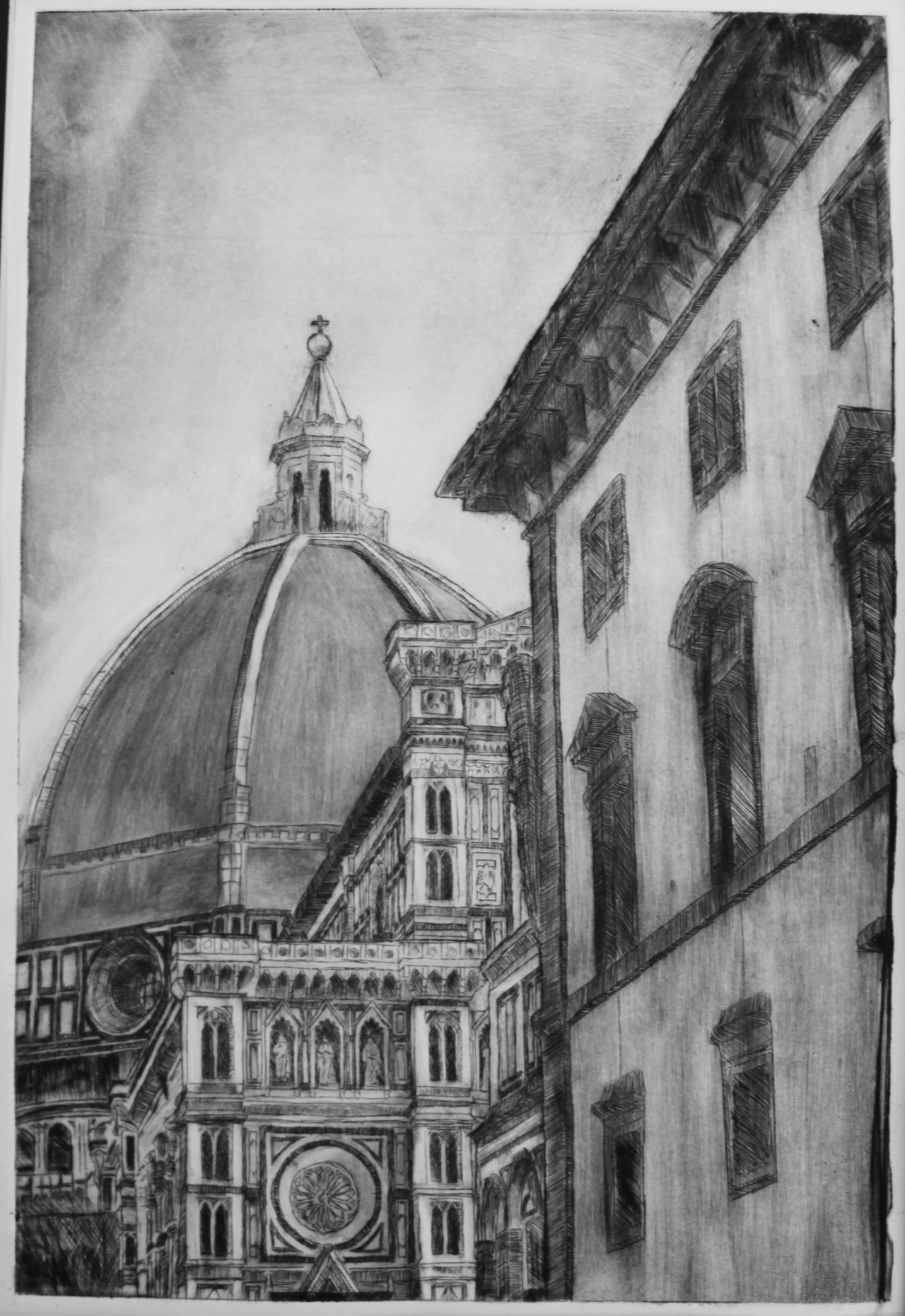 Il Duomo (drypoint etching)  — another of my favorites