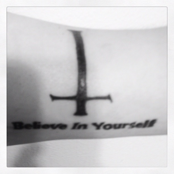 Taken with instagram I finally got this touched up today, a lot of the cross fell out when I got it done initially.  Also, it's extremely difficult to take a quality picture of the inside of your own arm.