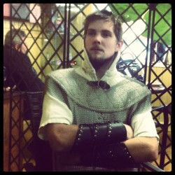 My #friend Tom in #chainmail #armour or the #medievil #fair #dressup #costume (Taken with instagram)