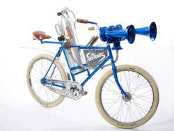 For the cyclist who has everything, now there's The Hornster, a 178 decibel horn that uses a scuba tank blast any truck or car that may want to get their attention!