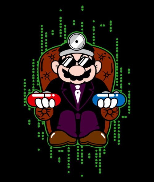 "gamefreaksnz:  Dr. Marpheus USD$16.99 - $18.99 For Two Days Only! Dr. Mario holds two pills, a red and a blue, one in each hand, and reaches out toward you. ""You take the blue pill and the story ends. You wake in your bed and believe whatever you want to believe — a world full of 1up Mushrooms, Question Blocks, Piranha Plants. You take the red pill, and you stay in the Mushroom Kingdom, and I show you how deep the Warp Pipe goes."