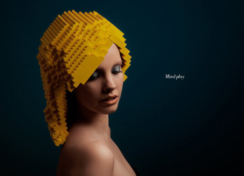 """Mind Play"" Photographs of Lego Wig by http://elroyklee.com/"
