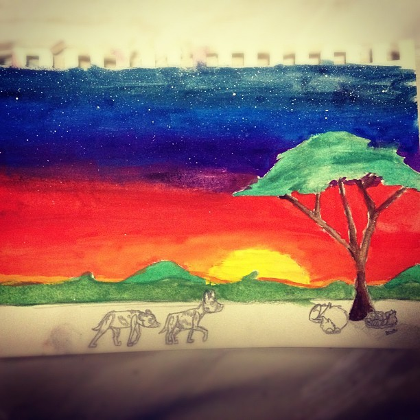 Spent the arvo doing a little painting (: (Taken with instagram)