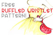 simplefibrelife:  (via Fehr Trade: Free ruffled wristlet pattern!) I stumbled upon this great tutorial from Melissa Fehr of Fehr Trade.