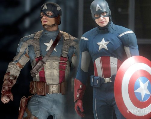 "Who else preferred the ""First Avenger"" costume to the ""Avengers"" one? Personally, I hate the new costume: to me it just seems so cartoony that I can't take Cap seriously."